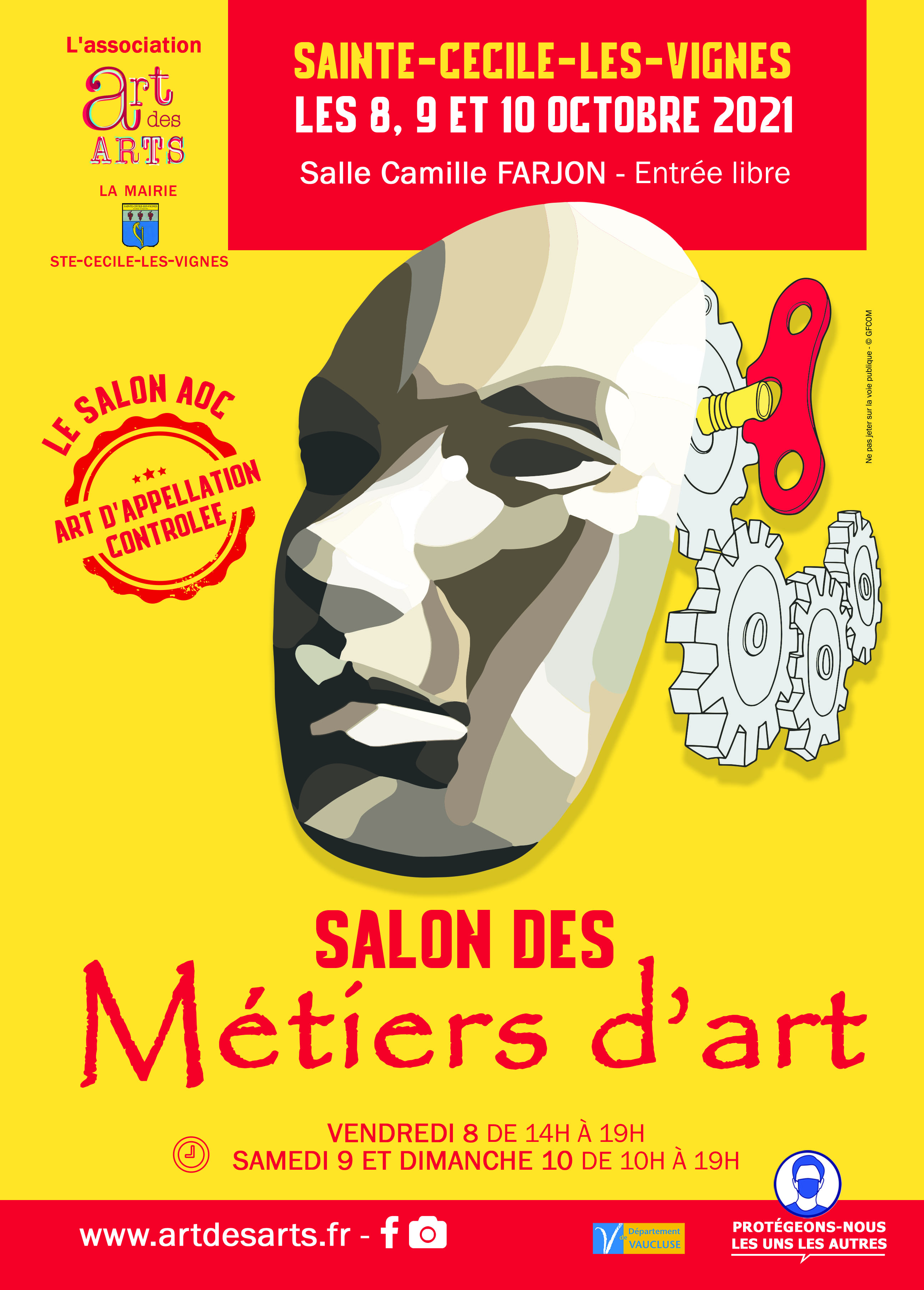 ART DES ARTS 2021 - Salon des Métiers d'Art de Sainte-Cécile-les-Vignes