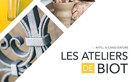 Appel à candidatures - Les Ateliers de Biot