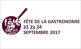 Participez à la fête de la gastronomie en septembre 2017